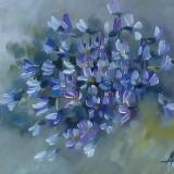 Tablou ulei (15/20cm)- TOPORAȘI - Pictor roman, Flori, Impresionism