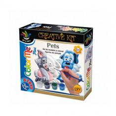 Joc Creativ Color Me Plus Pets Pisica si Catel - Jocuri arta si creatie D-Toys
