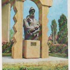 Bnk cp Targu Jiu - Statuia lui C Brancusi - necirculata - marca fixa - Carte Postala Oltenia dupa 1918, Printata