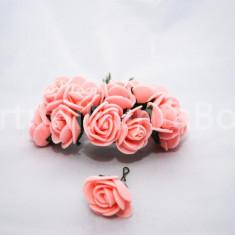 Marturii nunta cocarde trandafiri spuma + fundita marturie cocarda trandafir