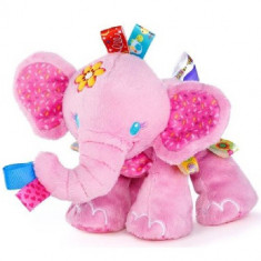 Taggies - Jucarie de Plus Prietenul Jucaus Elefantul Roz - Jucarie pentru patut Bright Starts