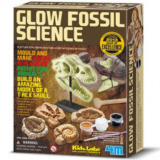 Set Creatie Fosile Stralucitoare - Jocuri Logica si inteligenta 4M