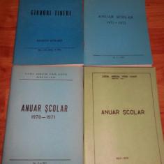 Patru anuare/ revista Liceul Agricol Podu Iloaiei Iasi 1971-1974