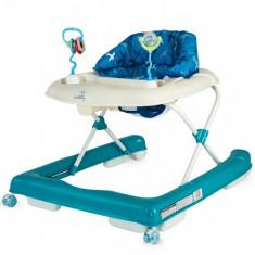 Premergator DHS Baby Move cu Roti de Silicon Albastru, 0-6 luni