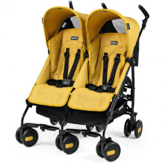 Carucior Pliko Mini Twin Yellow - Carucior copii 2 in 1 Peg Perego