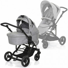 Carucior 2in1 Como 4S Grey Circle - Carucior copii 2 in 1 ABC Design