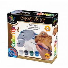 Joc Creativ Color Me Plus Safari Elefant si Camila - Jocuri arta si creatie D-Toys