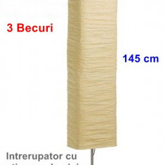 Lampadar cu lumina ambientala - 3 becuri - 145 cm inaltime - Noua - Corp de iluminat, Lampadare
