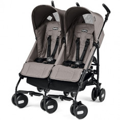Carucior Pliko Mini Twin Beige - Carucior copii 2 in 1 Peg Perego