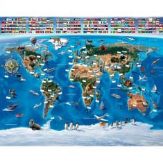 Tapet pentru Copii Harta Lumii - Decoratiuni petreceri copii