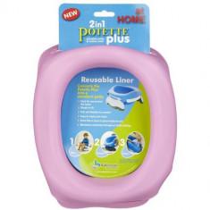 Liner Reutilizabil de Silicon pentru Potette Plus Roz - Cosmetice copii