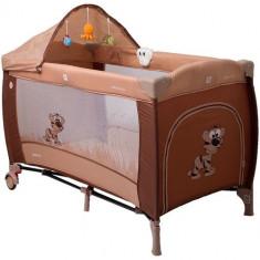 Pat Pliant Samba Lux Maro - Patut pliant bebelusi Coto Baby, 125X65cm