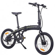 ZT-74- Bicicleta electrica cu cadru Aluminiu – PLIABILA - Bicicleta electrice, 20 inch, Numar viteze: 1, Negru