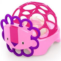 Oball - Primul Meu Elefant Roz Rollie Rattles - Jucarie pentru patut Bright Starts