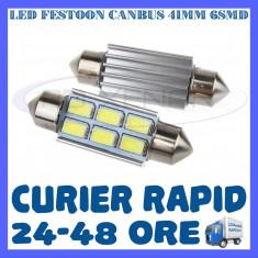 BEC AUTO LED LEDURI SOFIT FESTOON C5W C10W 41 mm 6 SMD 5730 CANBUS FARA EROARE