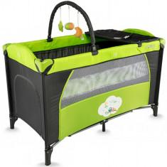 Patut Twinkle Verde - Patut pliant bebelusi DHS Baby, 120x60cm