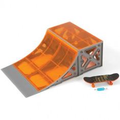 Set Miniskateboard Premium cu Rampa Tony Hawk Quaterpipe