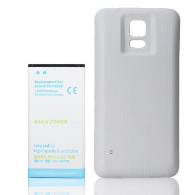 Baterie extinsa 7000 mah + capac alb dedicat Samsung Galaxy S5 G900 i9600 foto