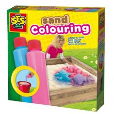 Set Vopsea pentru Nisip - Albastru Roz - Jocuri arta si creatie SeS