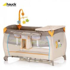 Pat Voiaj Babycenter Bear - Patut pliant bebelusi Hauck, Crem