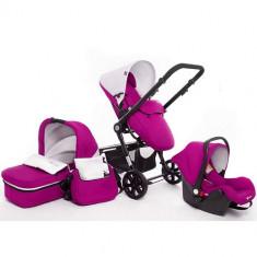 Carucior 3 in 1 Kraft 6 Purple - Carucior copii 2 in 1 Kinderkraft