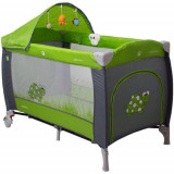 Pat Pliant Samba Lux Verde - Patut pliant bebelusi Coto Baby, 125X65cm