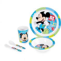 Set pentru Masa Melamina 5 Piese Mickey - Vesela bebelusi
