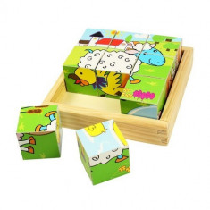 Puzzle Bigjigs Cubic - Animale Domestice