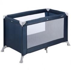 Patut Pliant Soft Dreams Navy Blue - Patut pliant bebelusi Safety 1st, 120x60cm, Albastru