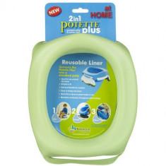 Liner Reutilizabil de Silicon pentru Potette Plus Verde - Cosmetice copii