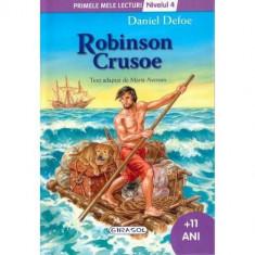 Primele Mele Lecturi Nivelul 4 - Robinson Crusoe - Carte de colorat