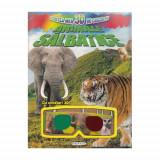 Cartea mea 3D de Colorat - Animale Salbatice - Carte de colorat