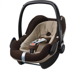 Cosulet Auto Pebble Plus 0-13 kg Earth Brown - Scaun auto copii grupa 0+ (0-13 kg) Maxi Cosi, 0+ (0-13 kg), Isofix