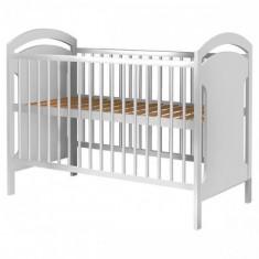 Patut din Lemn Anita Alb - Patut lemn pentru bebelusi, 120x60cm