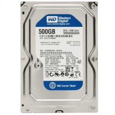 Hard Disk Western Digital 3.5 WD Blue 500GB, 7200rpm, 16MB, SATA 3 WD5000AAKX, 100%OK, garantie!, 200-499 GB