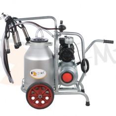 Aparat de muls vaci 1 post cu bidon din aluminiu 25 litrii EMT 1+1A25