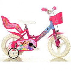 Bicicleta Princess 12 Inch - Bicicleta copii Dino Bikes