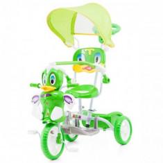 Tricicleta cu Copertina Duck Green - Tricicleta copii Chipolino