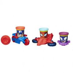 Plastilina Play-Doh Marvel Can-Heads Vehicle - Jocuri Logica si inteligenta Hasbro