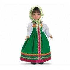 Papusa paola reina Marina in Costum Verde, 4-6 ani, Plastic, Fata