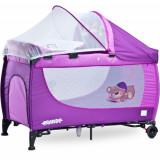 Patut Pliant Grande Purple - Patut pliant bebelusi Caretero, 120x60cm, Violet