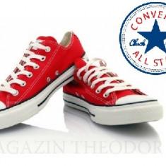 Tenisi Converse All Star - Tenisi dama Converse, Culoare: Rosu, Marime: 38, Textil