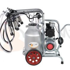 Aparat de muls vaci 2 posturi cu bidon din aluminiu 40 litrii EMT 2+1A40
