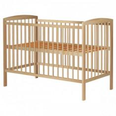 Patut din Lemn Anzel Natur - Patut lemn pentru bebelusi