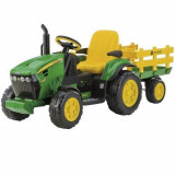 Tractor JD Ground Force cu Remorca - Masinuta electrica copii Peg Perego