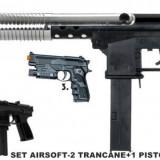 SET AIRSOFT COMPUS DIN 2 PUSTI+1 PISTOL +BONUS 2000 BILE 6mm. promotie !