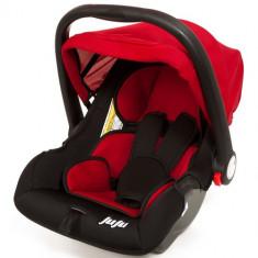 Cos Auto Baby Boo Rosu-Negru - Scaun auto copii Juju, 0+ (0-13 kg), Isofix