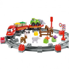 Set Constructii Abrick Country Train - Scule si unelte Ecoiffier