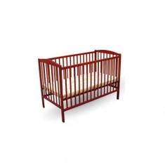 Patut Colour Cires - Patut lemn pentru bebelusi First Smile, 120x60cm, Maro
