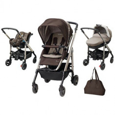 Carucior Trio Loola Excel Earth Brown - Carucior copii 2 in 1 Bebe Confort